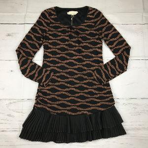 A'reve textured tulle pleated hem dress NWT L26